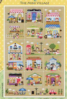 Cute modern cross stitch pattern and kit mini by sewsewnsew