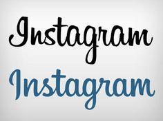 Logotipo antigo e novo do Instagram
