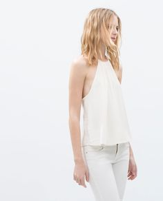 Image 3 of BRAIDED NECKLINE TOP from Zara
