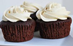 Chocolate Cupcakes with Kahlua Buttercream Icing