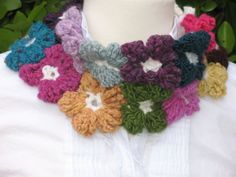 Colourful Crochet Floral Neckwarmer by TissaGibbons on Etsy, €27.00