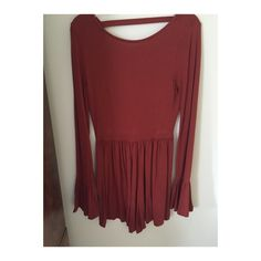 Asos Romper *SIZE 2, auburn color, has an open back, stained as picture (can be easily removed) ASOS Other