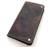 distressedbrownlongwallet1med Distressed Brown Wallet