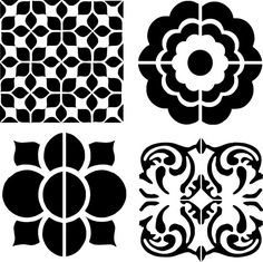 "Stencil, stencil ""cement tiles"" for kitchen, deco trend"