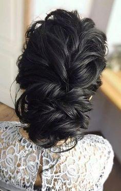 Prettiest Bohemian Wedding Hairstyles ❤︎ Wedding p Wedding Hairstyles For Long Hair, Bride Hairstyles, Updo Hairstyle, Bohemian Hairstyles, Black Hairstyles, Boho Updo, Bridesmaid Hair, Prom Hair, Wedding Hair Brunette