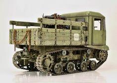 STZ-5 Soviet artillery tractor. VULCAN 1/35 scale. By Tomáš Brablc. #scale_model