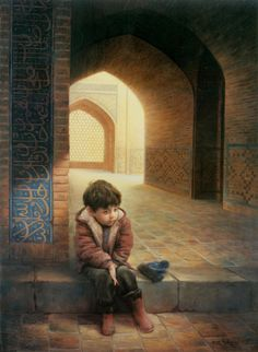 Majid Arvari. Esperando sentado