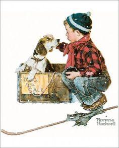 Boy meets Dog - Norman Rockwell