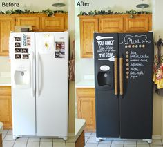 I so want to do this to my fridge... not sure about the rope but you just never know.