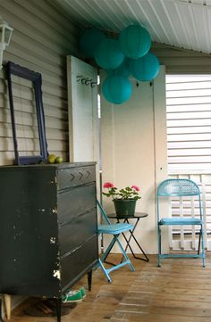 Touch of Turquoise Porch.