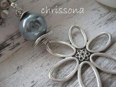 Anhänger Blume  von chrissona auf DaWanda.com
