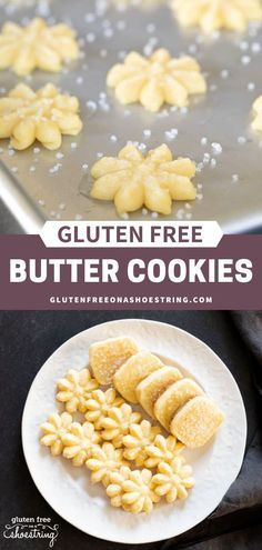 Gluten Free Butter Cookies - This delicious and classic cookie is a favorite among many. Its simplicity, yet rich buttery flavor - Gluten Free Butter Cookie Recipe, Cookies Sans Gluten, Gluten Free Christmas Cookies, Dessert Sans Gluten, Butter Press Cookies Recipe, Gluten Free Biscotti Recipe, Gluten Free Christmas Recipes, Gluten Free Deserts, Gluten Free Sweets