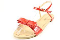 Rampage Red Patent Rangler Sandals