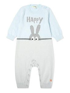 BONNIE BABY Happy bunny knitted babygrow 0-12 months