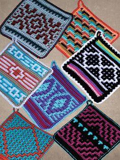 New Crochet Patterns - Native American Potholders