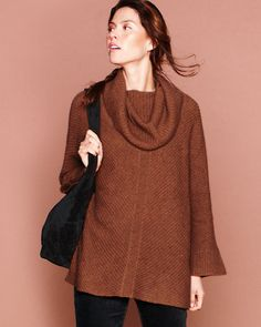 Eileen Fisher Supersoft Cowl-Neck Sweater