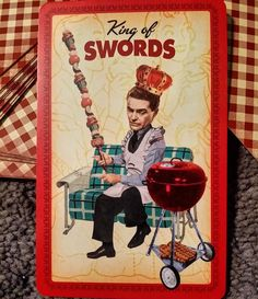 Today's card is the King of Swords from the Housewives Tarot. When making a decision use your head not your heart and above all be fair in your dealings. #dailydraw #cardoftheday #tarotcards #tarot #dailytarot #housewivestarot by rjdeal