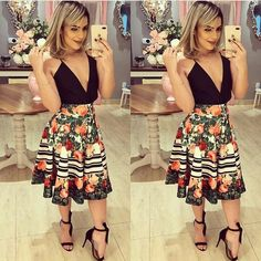 Swans Style is the top online fashion store for women. Shop sexy club dresses, jeans, shoes, bodysuits, skirts and more. Preppy Summer Outfits, Summer Fashion Outfits, Simple Outfits, Spring Summer Fashion, Spring Outfits, Casual Outfits, Fashion Models, Girl Fashion, Fashion Looks
