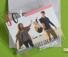 New clear holiday cards at Tiny Prints