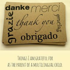 Things I am grateful for as the parent of a multilingual child