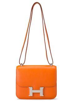 Hermès Constance Bag in Orange H Swift Leather, 18cm $13,500 via Christie's