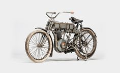 Harley Davidson 1907 'Strap Tank' - Vehicles - Oldtimer, Motorcycle, 20th century
