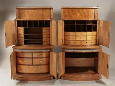 1800 tennessee pictures old | Each 2-part cabinet with a raised brass gallery above cupboard doors ...