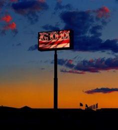 Albert Watson,The God Sign, Route 15, Las Vegas, 2001
