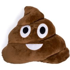 Poo Emoji Pillow ($16) ❤ liked on Polyvore featuring home, home decor, throw pillows, pillow and room