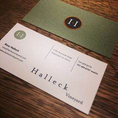 Letterpress business cards for bay area cinematographer aaron lee an olive green goldfoil black and cream business card for halleck reheart Image collections