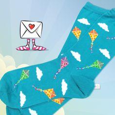 Let's Go Fly a Kite socks!