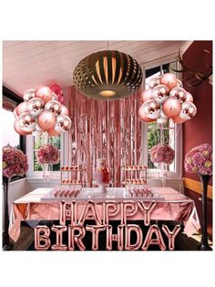 18 Birthday Party Decorations, Gold Birthday Party, 30th Birthday Parties, Birthday Dinners, Happy Birthday Banners, Birthday Balloons, Adult Birthday Party, Decoration Ideas For Birthday, 17th Birthday Party Ideas