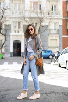 grey trench looks - Lady Addict