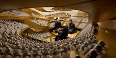 Inside the 1:10 scale model of Jean Nouvel's Paris philharmonic