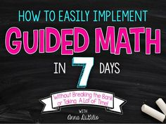 Get guided math up and running in your classroom this year and watch your students improve their math scores, and more importantly, their engagement!