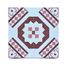 Mosaic Pack of 12 Bouman Pink/ Handmade Cement/ Granite Moroccan Tile 8-inch x 8-inch Floor/ Wall Tile