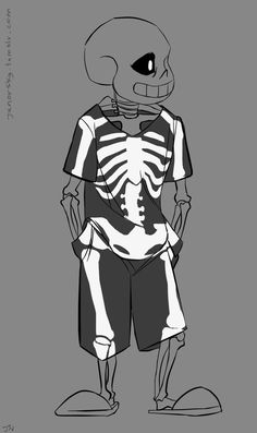 undertale | Tumblr Source: https://junorsky.tumblr.com/post/164137605791/a-cool-skeleton-brand