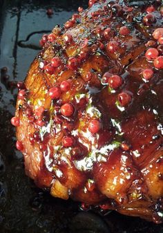 My Gammon with a Pomegranate and Pink Peppercorn Glaze on @GetawayMagazine today