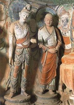 The Mogao Caves (Caves of the Thousand Buddhas, or the Caves of Dunhuang) are an intricate complex of Buddhist temples inside caves near the city of Dunhuang in Gansu province, China.