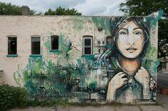 Alice Pasquini - Along the Way, Rochester, New York