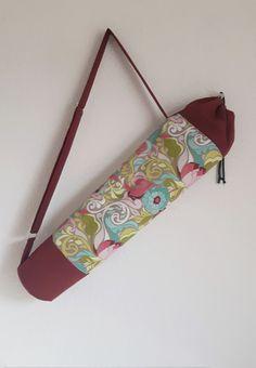 Tasche für eine Yogamatte, Bordeaux - Bunt von Hanna Yogataschen und Accessoires auf DaWanda.com