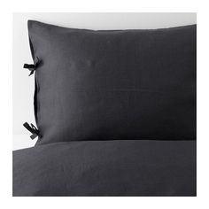 PUDERVIVA Duvet cover and pillowcase(s), dark gray dark gray Full/Queen (Double/Queen)