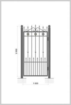 #Металлическая_Калитка / #gate #Wrought_Iron_Doors  Артикул: k_011 Ширина, мм: 1000 Высота, мм: 2000 Покрытие: Пентал Амор Цена: 11 370 руб./шт. Подробное описание на сайте.