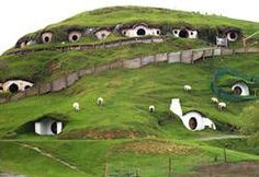 Hobbit Houses, New Zealand. I'm going to New Zealand.