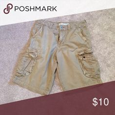 AE Outfitters Khaki Cargo Shorts These shorts are lightly used and the longer length. American Eagle Outfitters Shorts Cargo