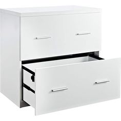 Filing Cabinet File Storage 2 Drawer Lateral in White by Altra Furniture