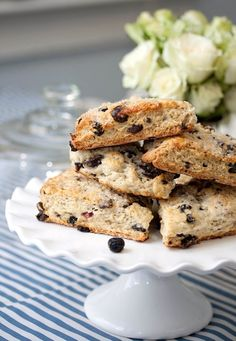 Blueberry Chocolate Scones - or use dark chocolate acai/dark choc pomegranate
