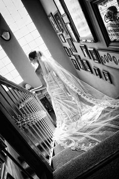 so many times they take pictures with the bride going up the stairs. I really like it when she is going down the stairs as well. Perfect Wedding, Dream Wedding, Wedding Day, Farm Wedding, Boho Wedding, Wedding Reception, Wedding Stuff, Bridal Pictures, Engagement Pictures