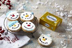 Μπισκότα χιονανθρωπάκια