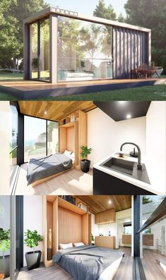 MOMOCO 20ft Prefab Shipping Container Home Small Shipping Containers, Prefab Shipping Container Homes, Shipping Container Home Designs, Prefab Homes, Tiny Homes, Tiny Container House, Storage Container Homes, Building A Container Home, 20ft Container